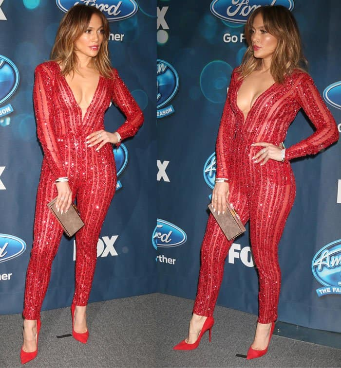 Although Jennifer Lopez looks great in any color, red suits her fiery personality best
