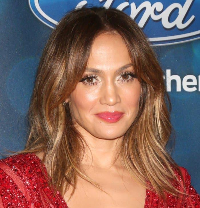Jennifer Lopez at the American Idol Farewell Season Finalist Party