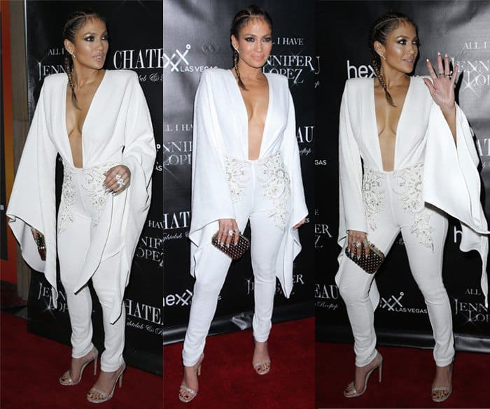 Lace details at the waist? Bell sleeves? This jumpsuit is perfection – for Jennifer Lopez, that is!
