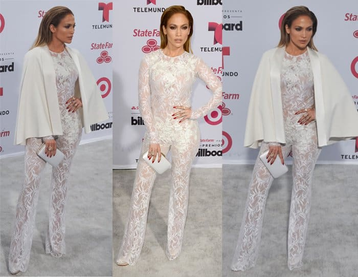 Jennifer Lopez managed to make a see-through jumpsuit look classy