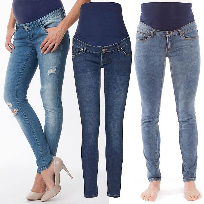 Belly panel maternity jeans