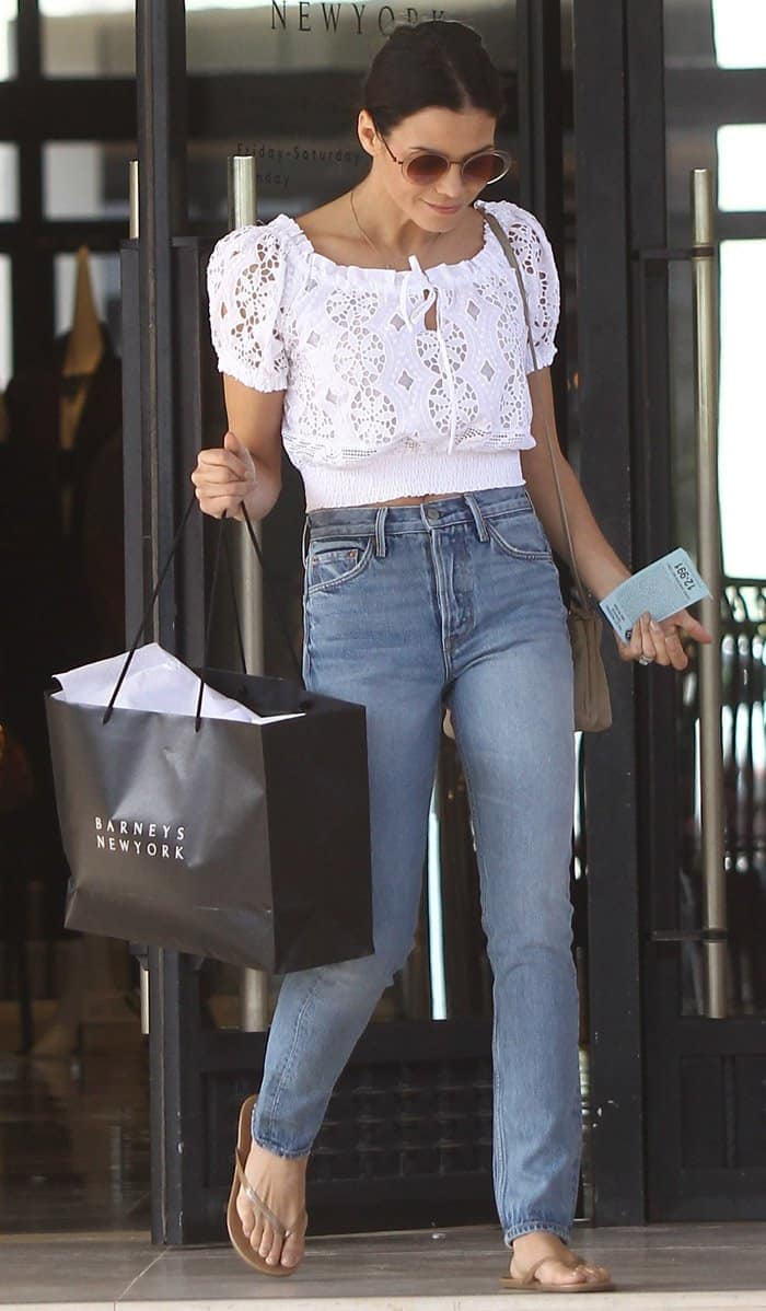 Jenna Dewan Tatum shops at Barney's New York