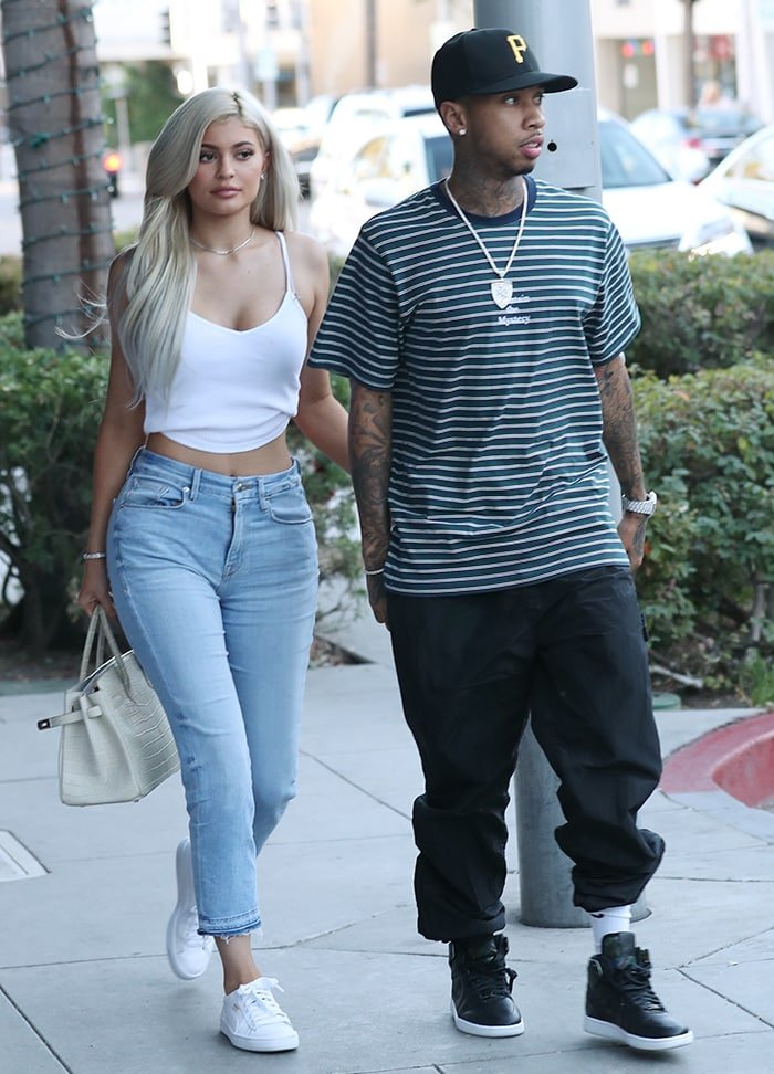 Kylie Jenner leaving La Scala restaurant with ex Tyga in Beverly Hills