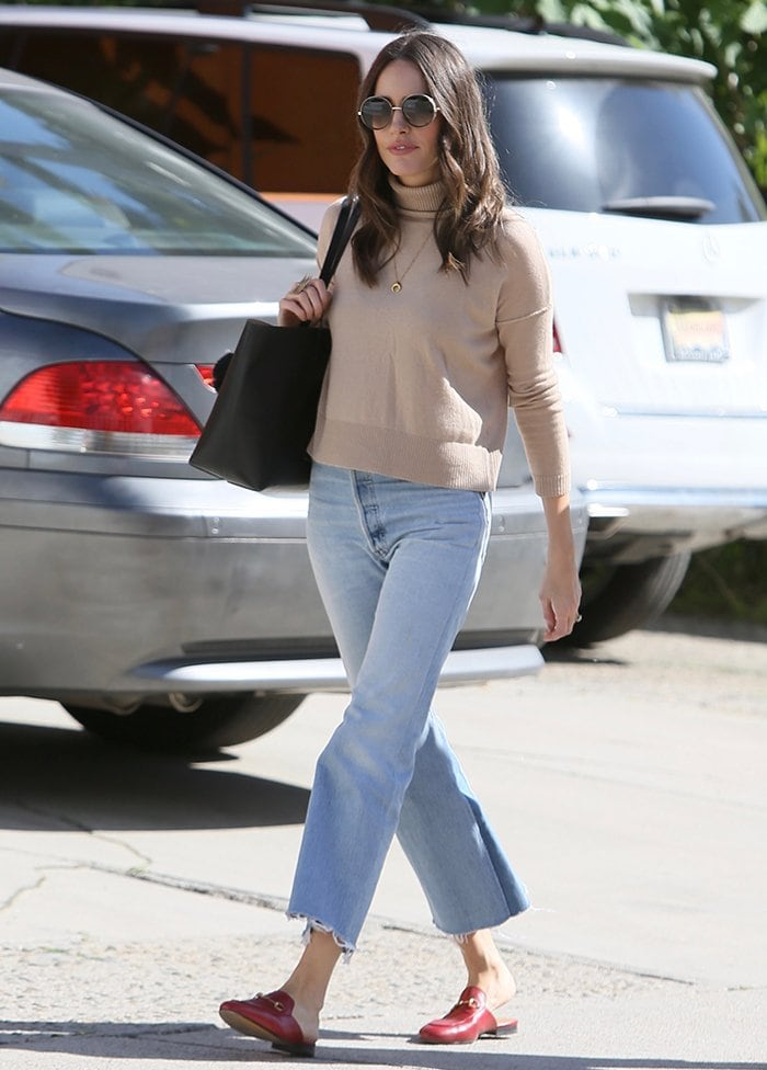 Louise Roe rocks laid-back jeans in West Hollywood