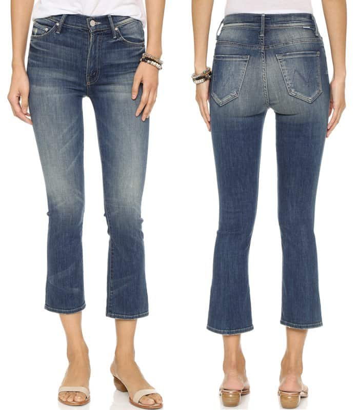 MOTHER The Insider Crop Jeans in Double Trouble
