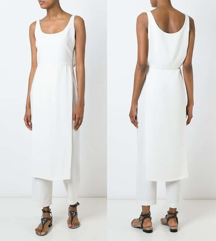 Catherine Quin Seagram Sleeveless Overlay Jumpsuit