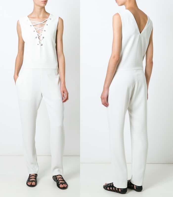 IRO Lace Up Neck Jumpsuit