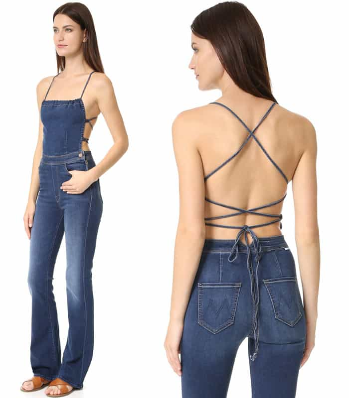 MOTHER Tie Back Jumpsuit