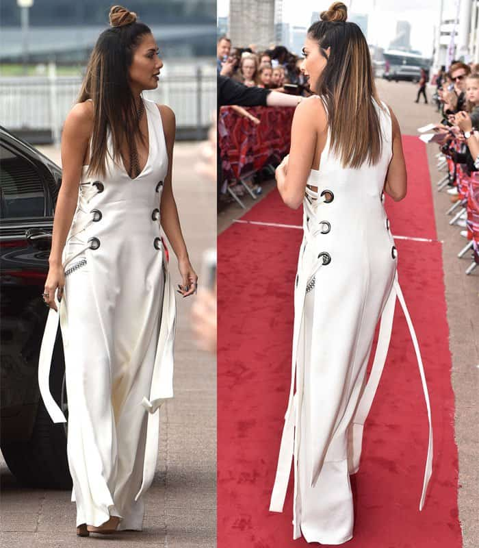 Nicole Scherzinger at the X Factor Auditions held at the Excel Centre in London on June 19, 2016