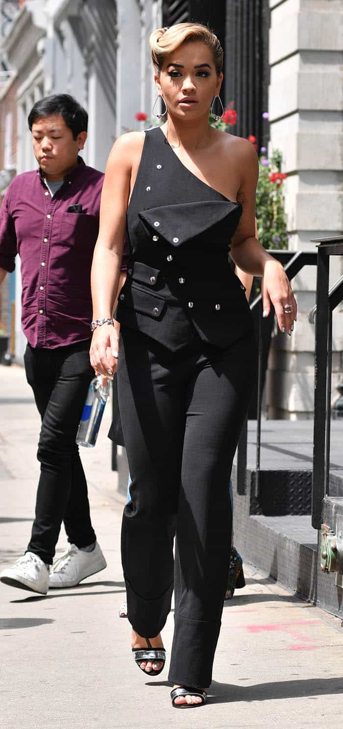 Rita Ora leaves her apartment in Manhattan, New York