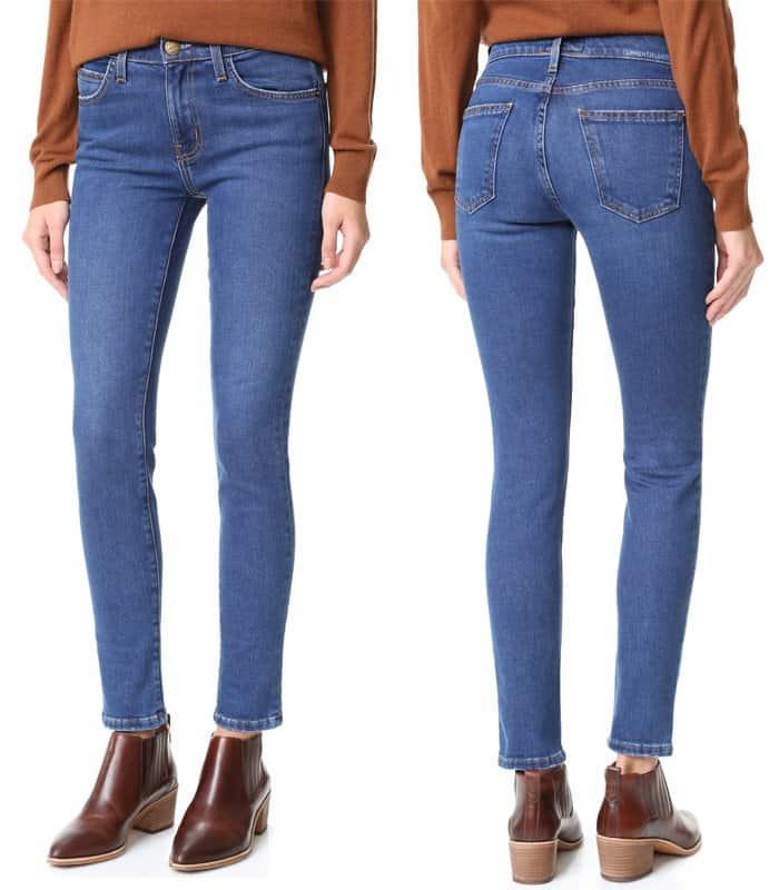 current-elliott-high-waist-ankle-skinny-jeans