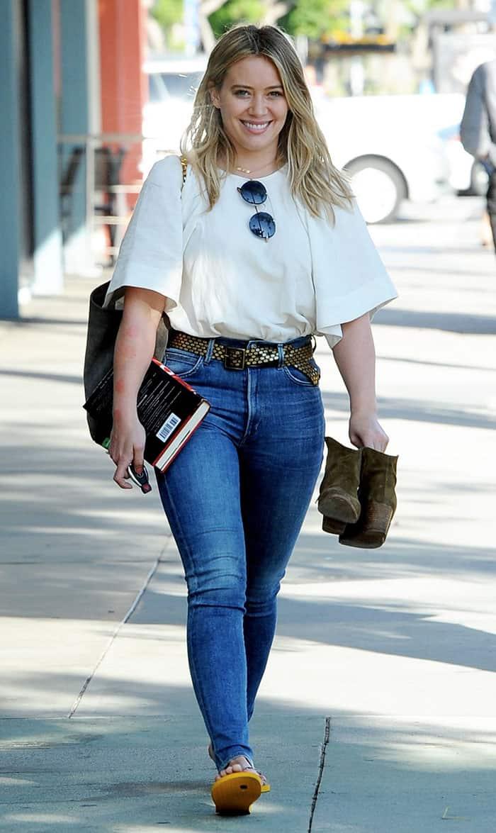 Hilary Duff leaves Sunset City Nails