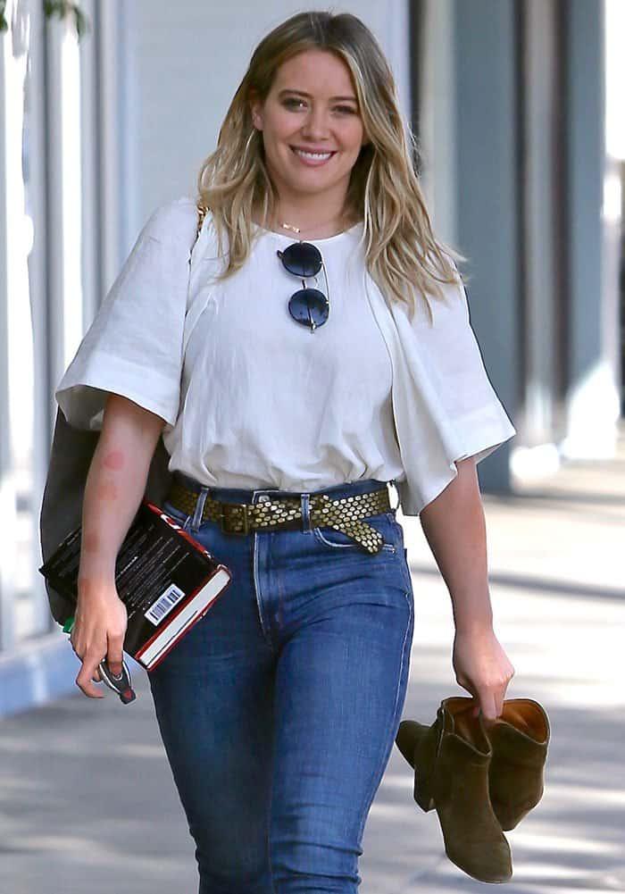 Hilary Duff seen leaving Sunset City nails