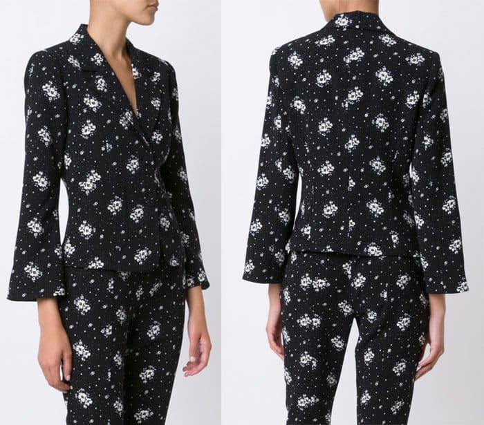 cinq-a-sept-floral-print-blazer