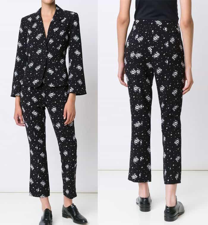 cinq-a-sept-floral-print-trousers