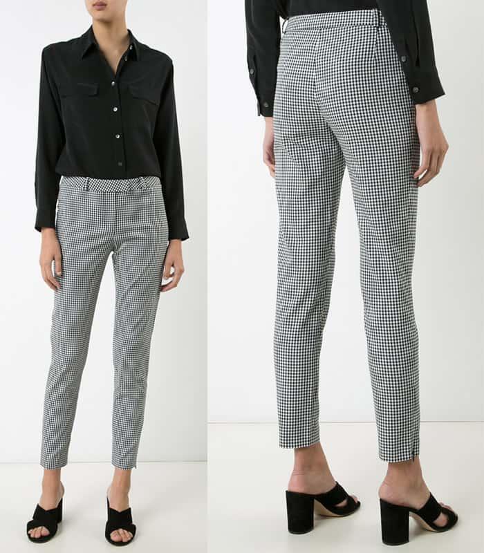 Altuzarra Henri skinny gingham trousers