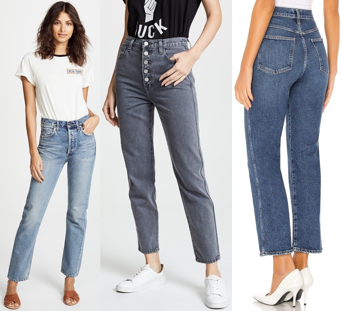 Straight-leg jeans from Citizens of Humanity, J Brand, and Agolde