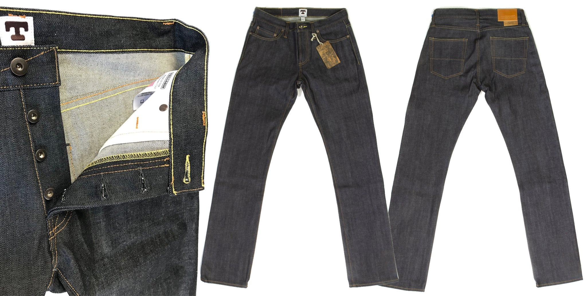 The popular John Graham Mellor ($230) is made with Tellason's proprietary Kaihara Japanese red line raw selvage denim