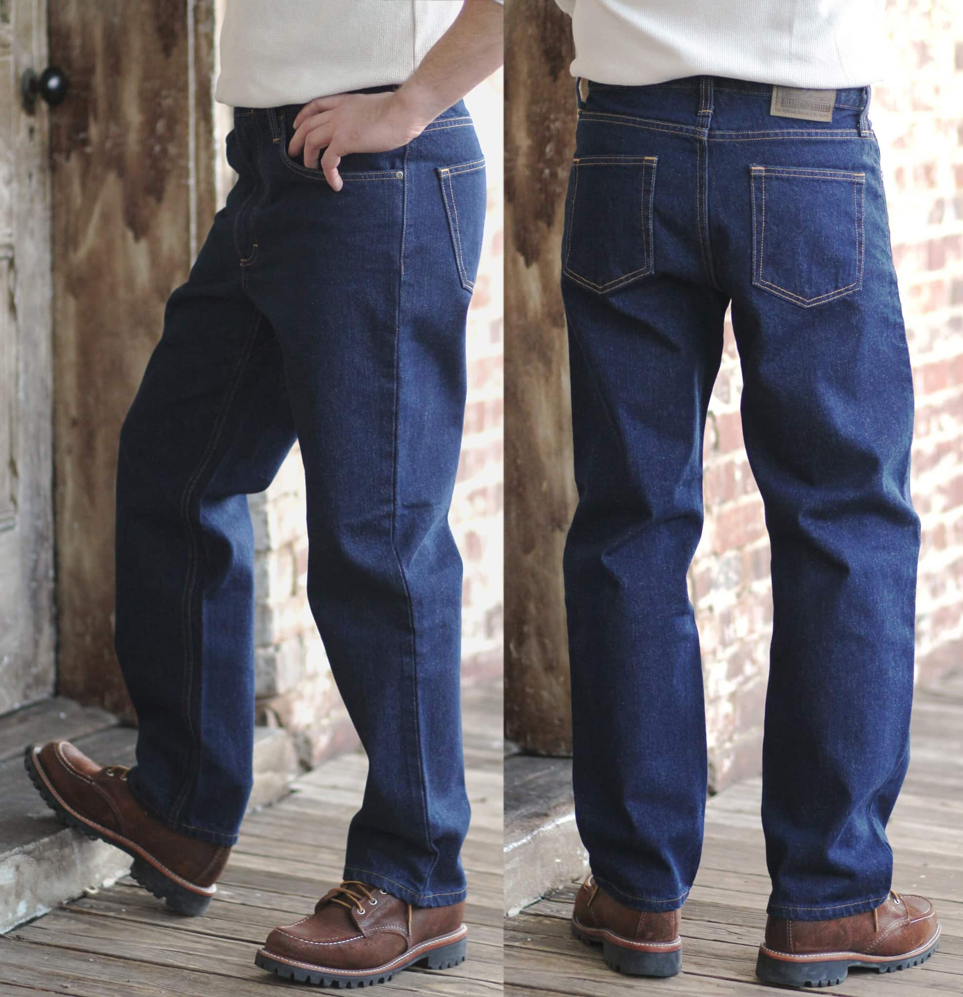 A $67.95-classic five-pocket jean incorporated with The Diamond Gusset's signature gusset design sewn into the stride for exceptional comfort
