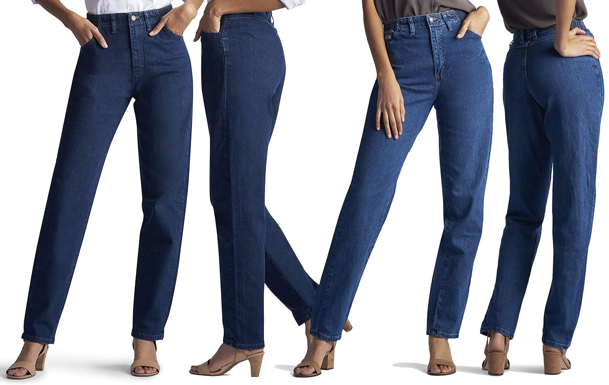 A comfortable pair of mid-rise relaxed fit jeans constructed with an elasticated waistband, making this pair the easiest denim you've ever worn