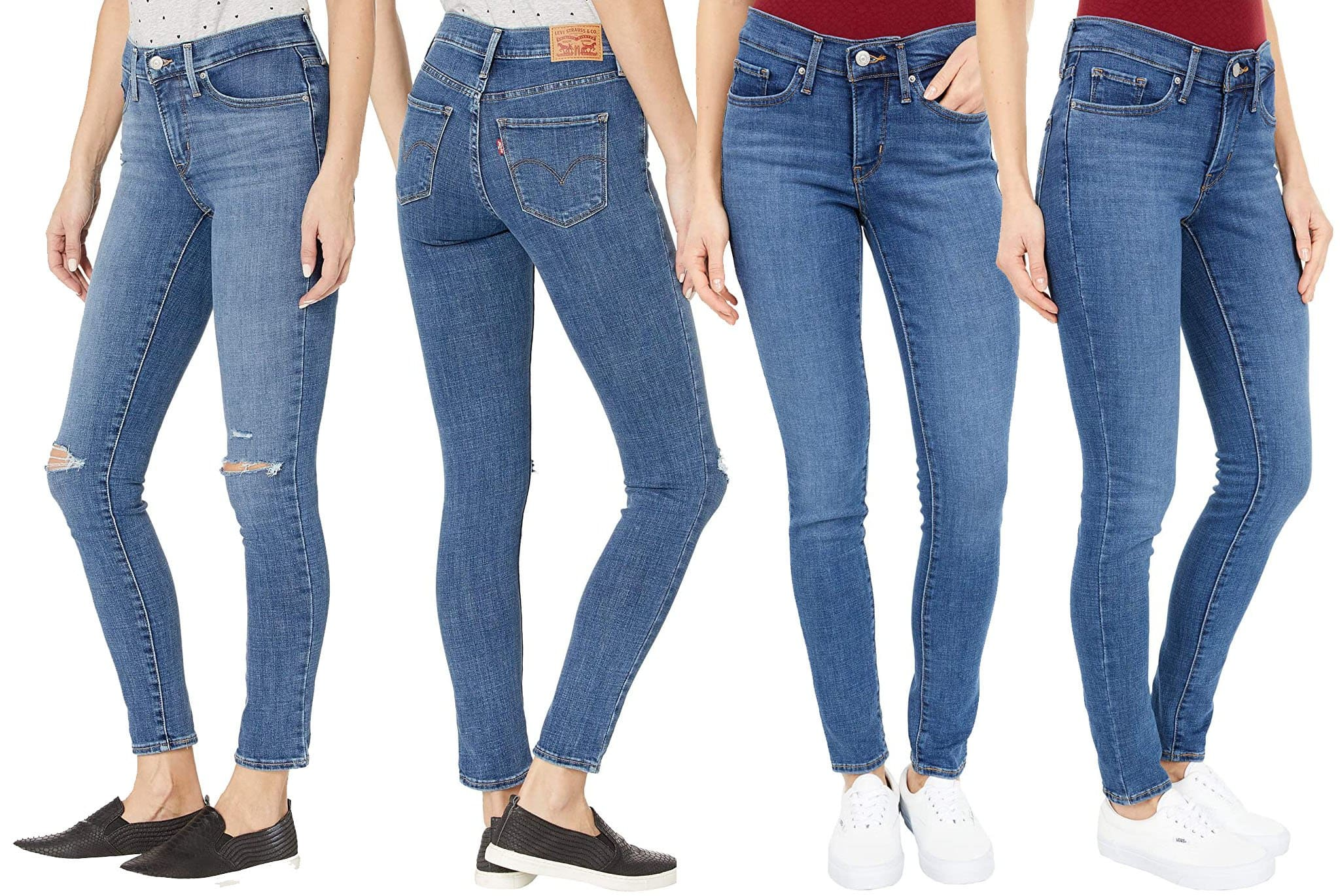 The 311 Shaping Skinny five-pocket jean creates a leg-lengthening silhouette, thanks to the mid-rise and sleek skinny fit