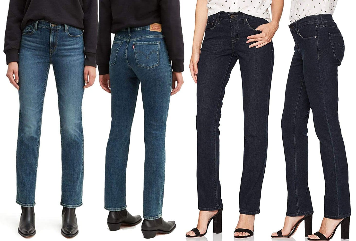 The classic straight 505 jean is made of a cotton-polyester blend with elastane, giving a structured yet stretchy fit